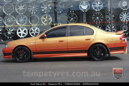 18x8.5 18x9.5 Simmons FR-1 Satin Black on FORD FALCON