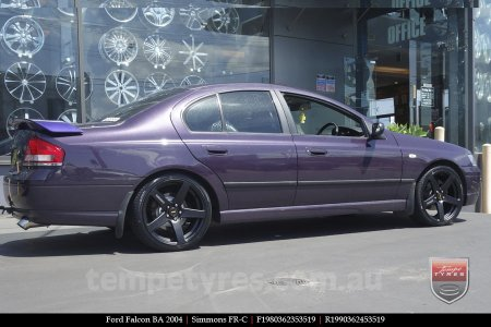 19x8.0 19x9.0 Simmons FR-C Matte Black on FORD FALCON