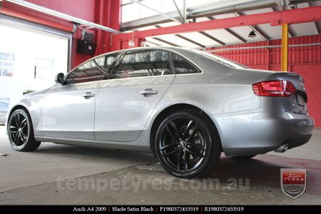 19x8.0 Blade Satin Black on AUDI A4