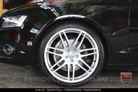 20x9.0 Style201 Silver on AUDI A5