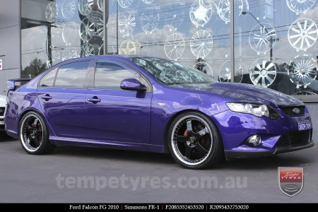 20x8.5 20x9.5 Simmons FR-1 Gloss Black on FORD FALCON