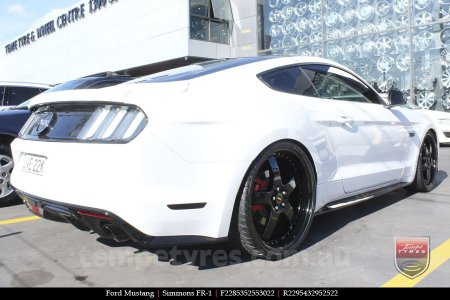 22x8.5 22x9.5 Simmons FR-1 Full Gloss Black on FORD MUSTANG
