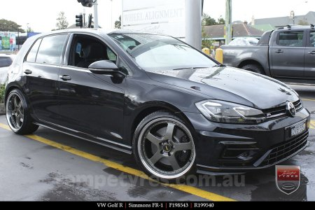 19x8.5 19x9.5 Simmons FR-1 Hyper Dark on VW GOLF R