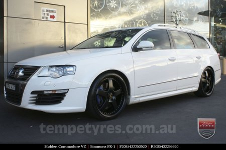 20x8.5 20x9.5 Simmons FR-1 Satin Black on HOLDEN COMMODORE