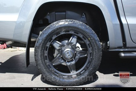 20x9.0 Ballistic Flame on VW AMAROK