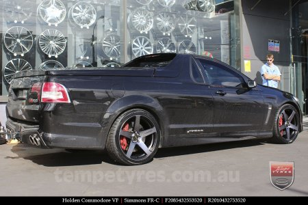 20x8.5 20x10 Simmons FR-C Black Tinted on HOLDEN COMMODORE