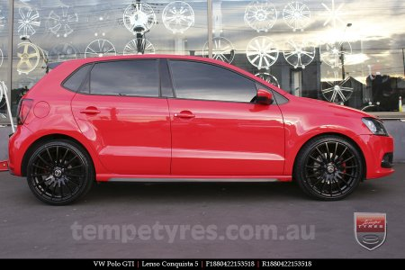 18x8.0 18x9.0 Lenso Conquista 5 SB CQ5 on VW POLO