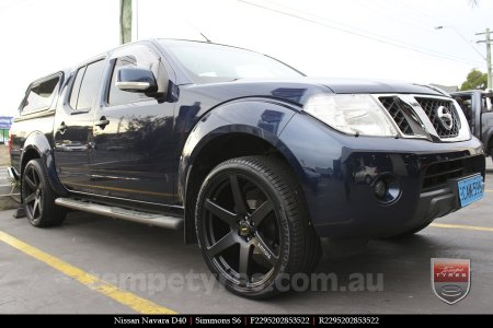22x9.5 Simmons S6 Matte Black on NISSAN NAVARA D40