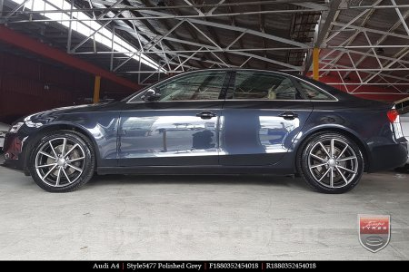 18x8.0 Style5477 Polished Grey on AUDI A4