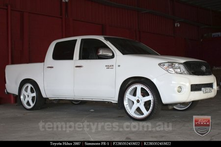 22x8.5 22x9.5 Simmons FR-1 White on TOYOTA HILUX