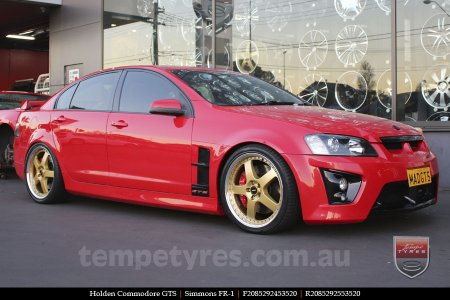 20x8.5 20x9.5 Simmons FR-1 Gold on HOLDEN COMMODORE