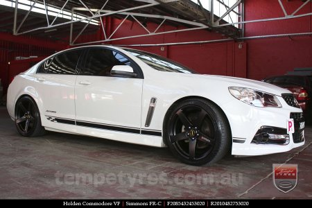 20x8.5 20x10 Simmons FR-C Full Satin Black on HOLDEN COMMODORE
