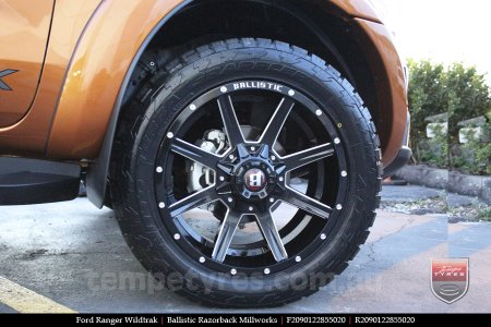 20x9.0 Ballistic Razorback Millworks on FORD RANGER WILDTRAK