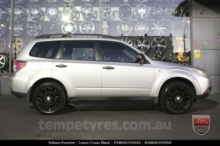 18x8.0 Lenso Como Black on SUBARU FORESTER