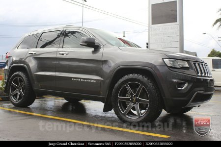 20x9.0 Simmons S6S Matte Black on JEEP GRAND CHEROKEE