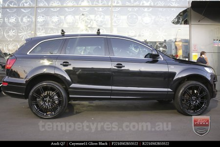 22x10 Cayenne11 Gloss Black on AUDI Q7