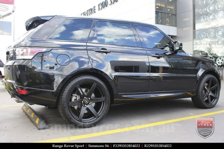 22x9.5 Simmons S6 Matte Black on RANGE ROVER SPORT