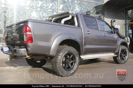 17x9.0 Simmons S6 Matte Black on TOYOTA HILUX SR5