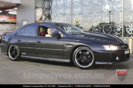 18x8.5 18x9.5 Simmons FR-1 Gloss Black on HOLDEN COMMODORE
