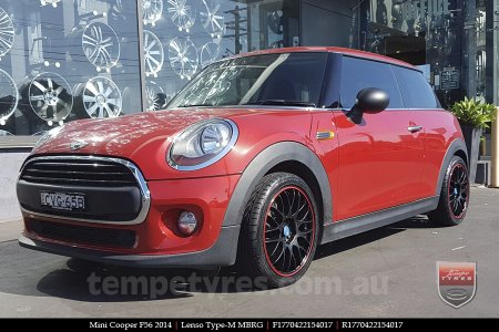17x7.0 Lenso Type-M - MBRG on MINI COOPER