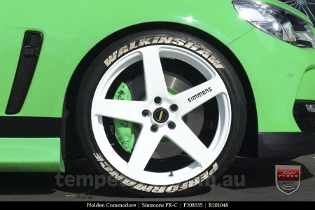 20x8.5 20x10 Simmons FR-C Full White NCT on HOLDEN COMMODORE