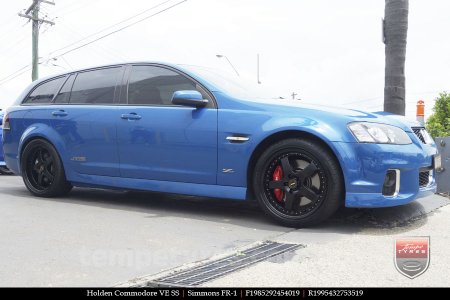19x8.5 19x9.5 Simmons FR-1 Satin Black on HOLDEN COMMODORE VE