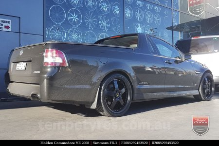 20x8.5 20x9.5 Simmons FR-1 Satin Black on HOLDEN COMMODORE VE