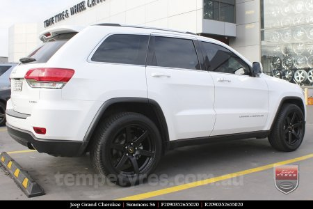 22x9.5 Simmons S6 Matte Black on JEEP GRAND CHEROKEE