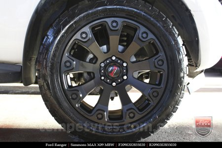 20x9.0 Simmons MAX X09 MBW on FORD RANGER