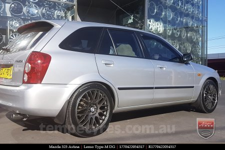 17x7.0 Lenso Type-M - DG on MAZDA 323 ASTINA