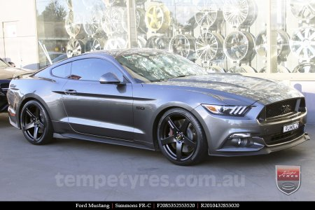 20x8.5 20x10 Simmons FR-C Full Satin Black on FORD MUSTANG