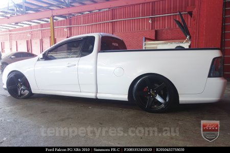 20x8.5 20x10 Simmons FR-C Full Satin Black on FORD FALCON