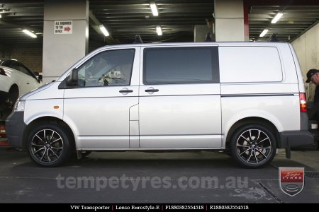 18x8.0 Lenso Eurostyle E ESE on VW TRANSPORTER