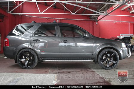 22x9.5 Simmons FR-C Full Satin Black on FORD TERRITORY