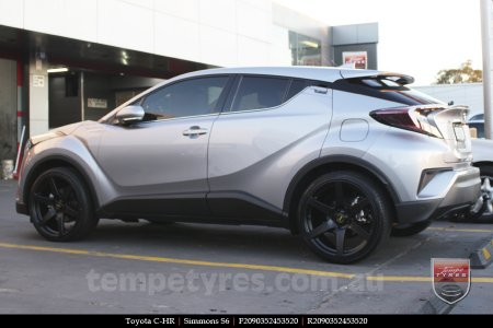 20x9.0 Simmons S6 Matte Black on TOYOTA C-HR