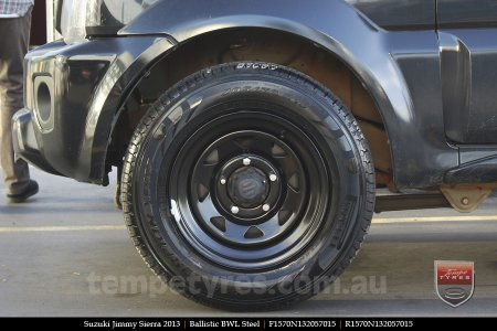15x7.0 Ballistic BWL Steel on SUZUKI JIMMY SIERRA