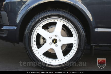20x8.5 20x9.5 Simmons FR-1 White on VW MULTIVAN