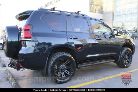 20x9.0 Ballistic Ravage Flat Black on TOYOTA PRADO