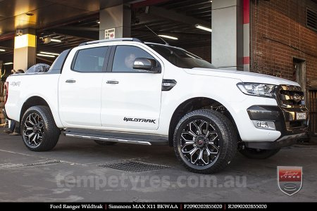 20x9.0 Simmons MAX X11 BKWAA on FORD RANGER WILDTRAK