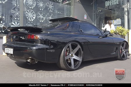 20x8.5 20x10 Simmons FR-C Black Tinted on MAZDA RX7