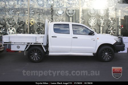 17x8.0 Lenso Black Angel V3 on TOYOTA HILUX
