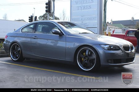 20x8.5 20x9.5 Simmons FR-1 Hyper Dark on BMW 335i E92