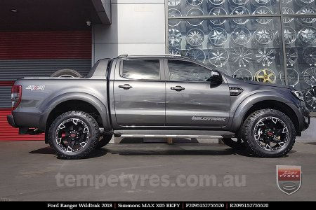 20x9.5 Simmons MAX X05 BKFY on FORD RANGER WILDTRAK