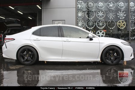 18x8.0 18x9.0 Simmons FR-C Matte Black NCT on TOYOTA CAMRY