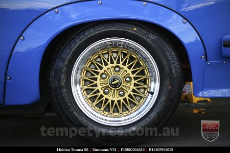 15x8.0 15x10 Simmons V51 GBM on HOLDEN TORANA