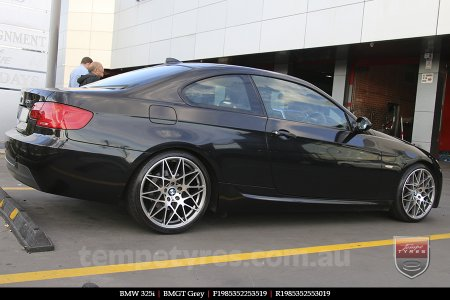 19x8.5 BMGT GREY on BMW 325i