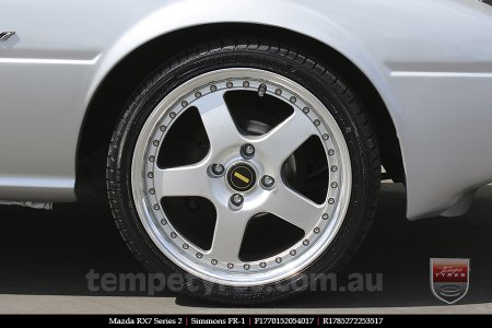 17x7.0 17x8.5 Simmons FR-1 Silver on MAZDA RX7