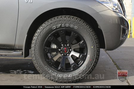 20x9.0 Simmons MAX X09 MBW on NISSAN PATROL
