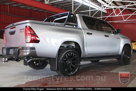 20x9.0 Simmons MAX X11 MBW on TOYOTA HILUX ROGUE