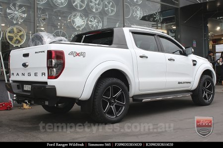 20x9.0 Simmons S6S Matte Black on FORD RANGER WILDTRAK